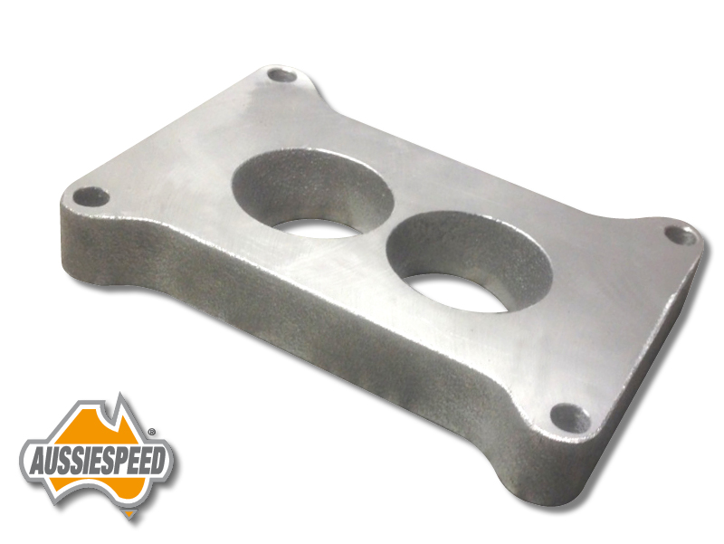 Carb Wedge Spacers : As holley barrel carburetor spacer mm