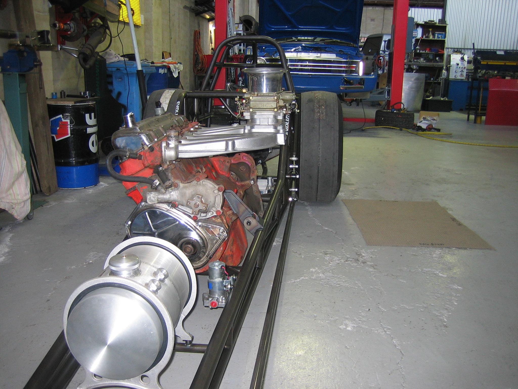 Slant Slingshot Dragster on 300 Ford 6 Cylinder Performance