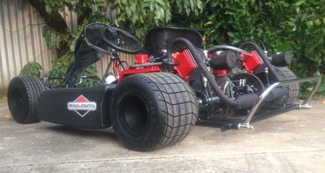 Briggs stratton powered gokart aussiespeed street for Motor go kart for sale