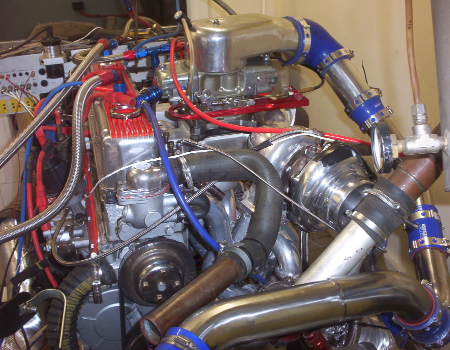 Turbo Holden Red Motor On Dyno
