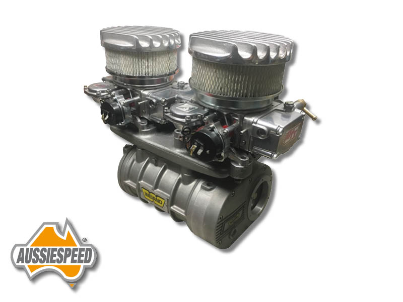 Weiand 142, 144, 177 2x4 Carb supercharger adapter AS0103