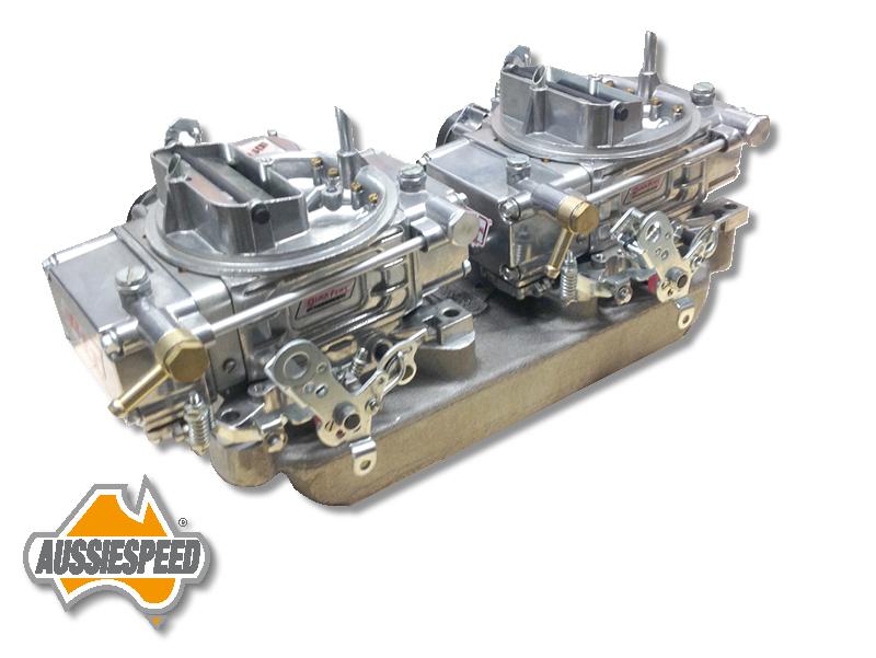 Dual Quad intake manifold Chevy inline 6 cylinder