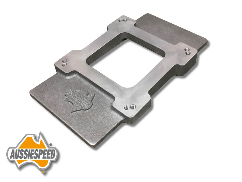 Supercharger carb plate 1×4 Carb adapter blank AS0474 | Aussiespeed